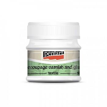 Pentart / decoupage lepidlo a lak na textil / 50ml
