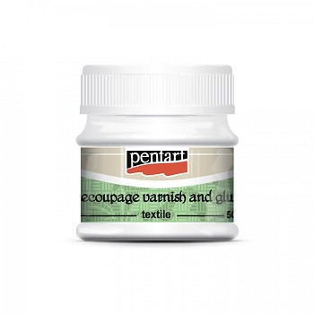 Pentart / decoupage varnish and glue textile / 50ml