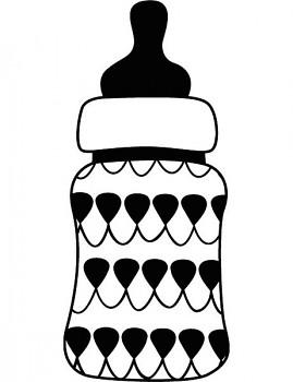 Drevené razítko / Detská fľaša  / 35 x 35 mm