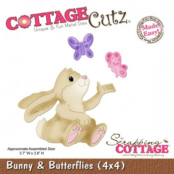 CottageCutz Bunny & Butterflies (4x4)