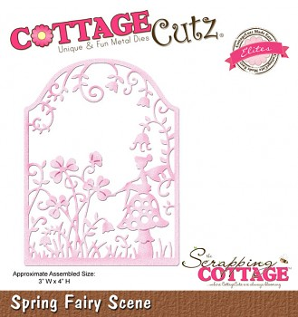 CottageCutz Spring Fairy Scene