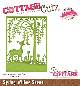 CottageCutz Willow Scene