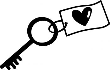 Drevené razítko / Kľúč ku šťastiu / 35 x 55 mm