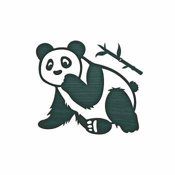 Kovová šablóna - Scruffy Panda