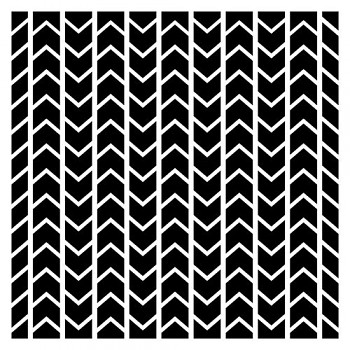 "Šablóna Chevron pattern / 6x6"" / 0,31mm"