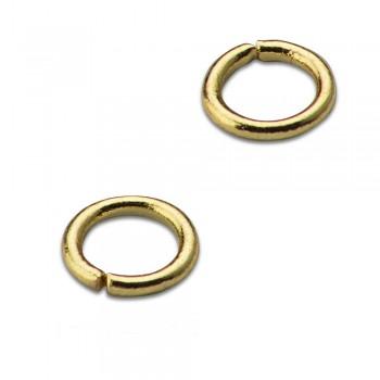 Spojovací kroužek 20 ks / 6mm / zlato